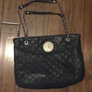 Donna Karen Leather Quilted purse
